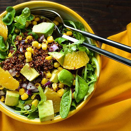 рецепты с фото салат с киноа и авокадо