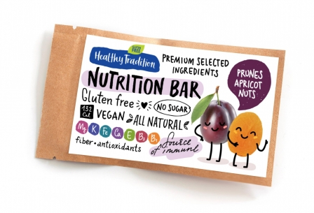 "Healthy Tradition Батончик без сахара ""Nutrition bar Чернослив, абрикос, орехи"", 38г фото №1"