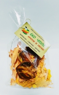 Эко чипсы тыква+помидор+морковь 50 грм фото №1