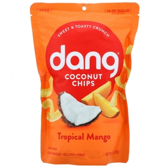 Toasted Cocout Chips, натуральные кокосовые чипсы с манго. 90 грамм. фото №1