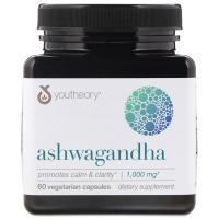 Ашваганда, 1,000 mg, 60 вегетарианских капсул