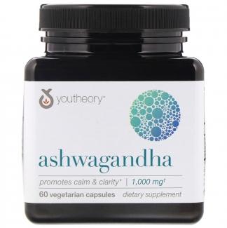 Ашваганда, 1,000 mg, 60 вегетарианских капсул фото №1