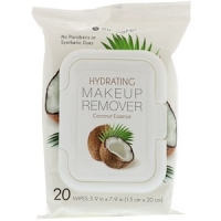 Увлажняющие салфетки для удаления макияжа с кокосовой эссенцией, 20 шт