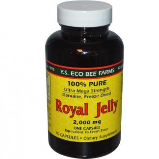 Маточное молочко Royal Jelly 100% , 2000 мг, 75 капсул фото №1
