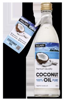 Кокосовое масло рафинированное Hillary Premium Quality Coconut Oil 250мл фото №1