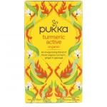 Turmeric active, органический чай с куркумой, без кофеина, 20 пакетиков