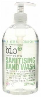 Bio-D дезинфицирующее жидкое мыло для рук с эфирными маслами розмарина и тимьяна 500 мл фото №1