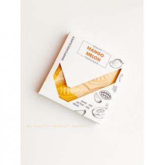 Натуральный шоколад с манго и дыней без сахара, 75 грамм фото №1