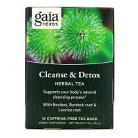 Чай для очищения и детоксикации, без кофеина, 16 пакетиков