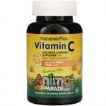 Жевательный витамин C для детей, 90 таблеток в форме животных, Natures Plus