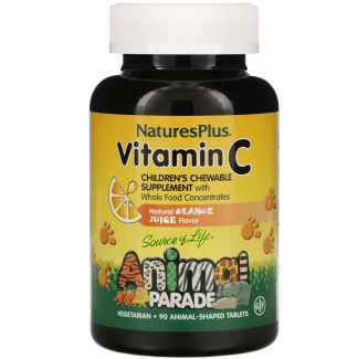 Жевательный витамин C для детей, 90 таблеток в форме животных, Natures Plus фото №1