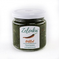 Натуральная приправа из свежей зелени Hot Red (с перцем) 200г
