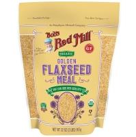 Органические молотые  золотистые семена льна  907 грамм