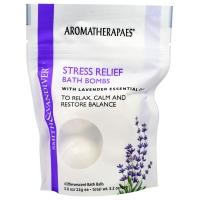 Снимающие стресс бомбочки для ванны с эфирным маслом лаванды, 4 шипучих шарика для ванны по 22 грамма