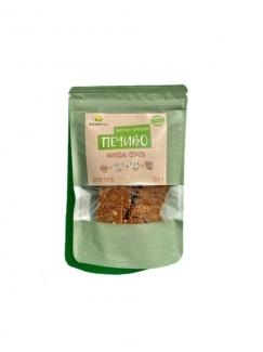 Натуральное яблочно-финиковое печенье с орехами, 100 гр. фото №1