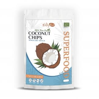 Органические кокосовые чипсы без сахара 90 грм фото №1