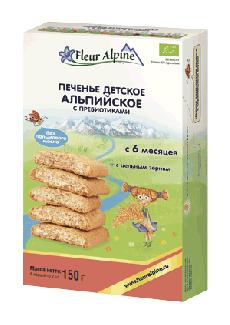 """Печенье детское """"Альпийское"""" с пребиотиками с 6 месяцев фото №1"""