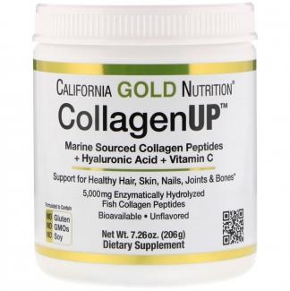 Collagen UP, пептиды коллагена из морских источников + гиалуроновая кислота + витамин С, 205 грамм фото №1