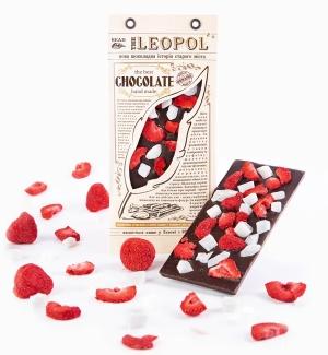 """Натуральный черный шоколад, """"Клубника - кокос"""", 95 грамм фото №1"""