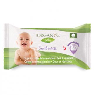 Органические влажные детские салфетки 60 шт фото №1