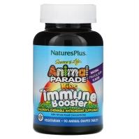 Добавка для укрепления детского иммунитета, вкус натуральных тропических ягод, 90 животных, Natures Plus