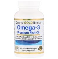 Рыбий жир высшего качества Омега-3, 100 капсул