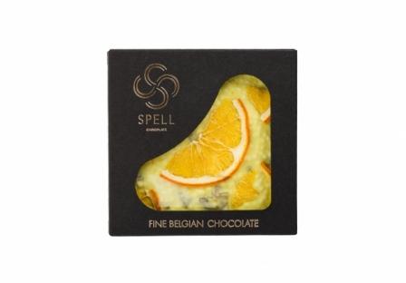 Белый шоколад с апельсином, лимоном и карамелью фото №1