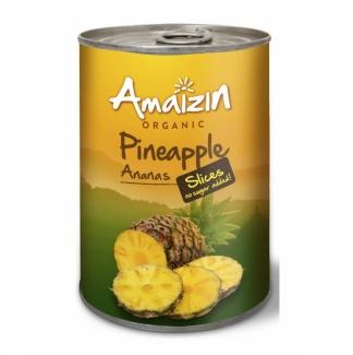 Органические ломтики ананаса без сахара Amaizin, 400 мл. фото №1