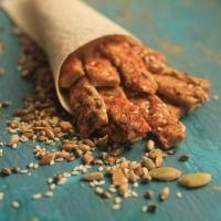 Натуральное постное печенье с морской солью и паприкой  150гр