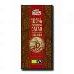 Шоколад черный органический без сахара 100% какао, 100 грамм