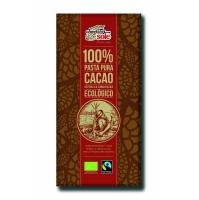 Шоколад черный органический без сахара 100% какао, 100 г.