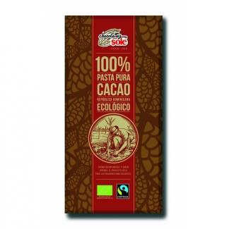 Шоколад черный органический без сахара 100% какао, 100 г. фото №1