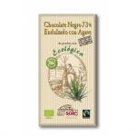 Органический черный шоколад 73% без сахара  100 г.