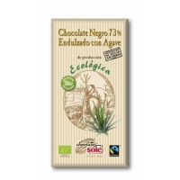 Органический черный шоколад 73% без сахара  100 г. Chocolates Solé