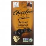 Шоколад соленая карамель с шоколадной начинкой в темном шоколаде, 55% какао, 90 грамм