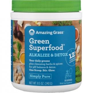 Amazing Grass Green Superfood Alkalize&Detox, Детокс 30 порций фото №1