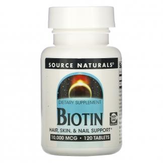Биотин, 10000 мкг, 120 таблеток фото №1