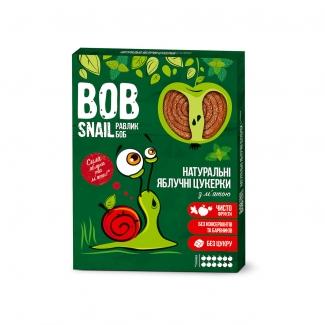"""Натуральные яблочные конфеты без сахара с мятой """"Улитка Боб"""" (пастила) 120г фото №1"""