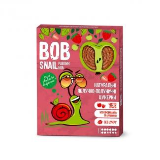 """Натуральные яблочно-клубничные конфеты без сахара """"Улитка Боб"""" (пастила) 120г фото №1"""