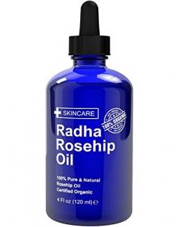 Radha Beauty Rosehip Oil 100% Organic Масло шиповника холодного отжима Органик 120 мл фото №1