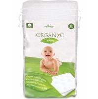 Органические квадратные детские диски из хлопка 60 шт