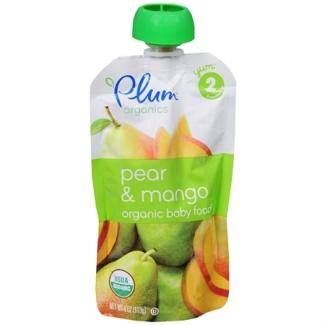 Organic Baby Food pear and mango, Органическое пюре из груши и манго. С 6 месяцев. 113 грамм  фото №1