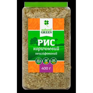 Рис коричневый цельнозерновой нешлифованный, 400г фото №1