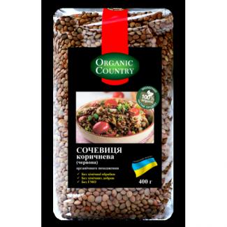 Органическая чечевица коричневая (красная), 400 грамм фото №1