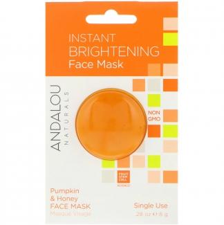 Моментально освежающая маска для лица, тыква и мед, 8 г фото №1