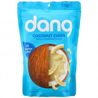 Lightly Salted Coconut Chips, натуральные подсоленные кокосовые чипсы. 90 грамм. фото №1