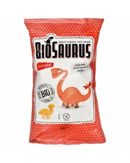 Органические безглютеновые кукурузные снеки Динозаврики с кетчупом 50 грм фото №1