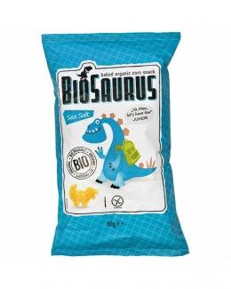 Органические безглютеновые кукурузные снеки Динозаврики с морской солью 50 грм фото №1