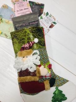 Новогодний подарочный набор от Natures own factory — 1 чай + 5 шоколадок фото №1