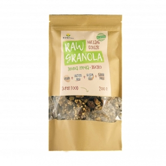 Натуральная row granola из зеленой гречки с миндалем и фундуком 200 грм фото №1